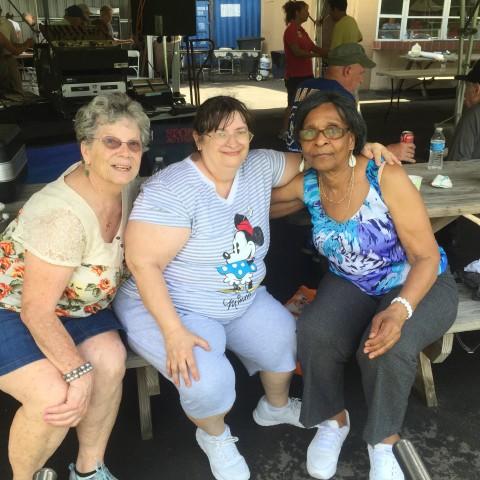 Hanging out at the Senior Picnic