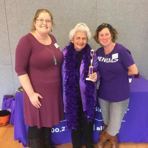Purple Lighting Trophy Winner Nicolina Alzheimer's Association