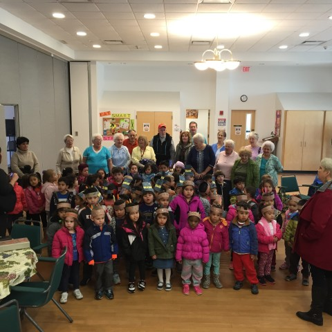 St. Peter's Pre-K Students sharing Thanksgiving songs