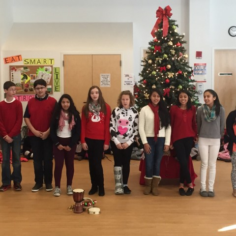 St. Peter's Students sing Joy to the World