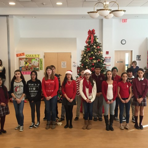 St. Peter's 8th grade Students sing BELIEVE