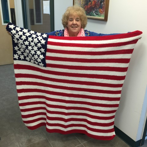American Flag Afghan for our Veterans