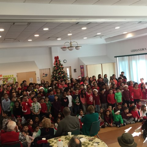 St. Peter's School K-8 Singing We Wish you a Merry Christmas