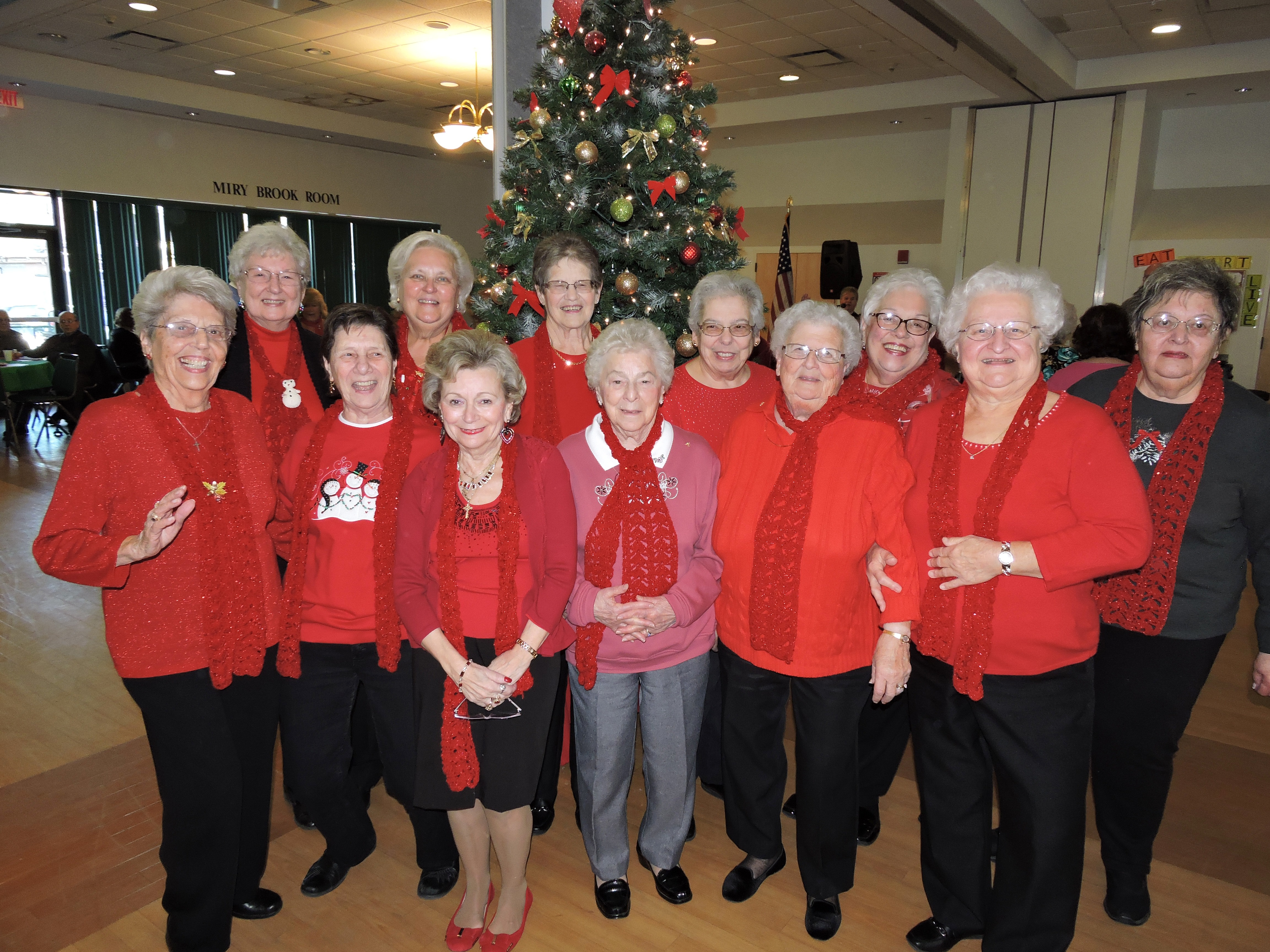 generous group of ladies spreading cheer around the tree | danbury