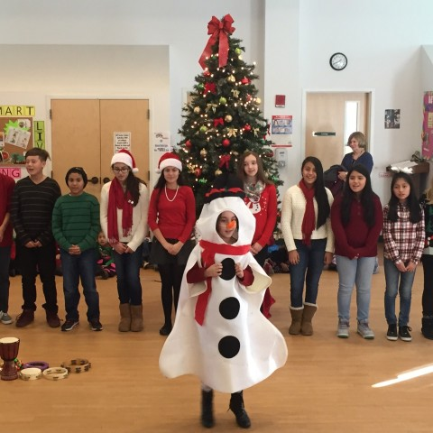 St. Peter's Students sing Frosty the Snowman