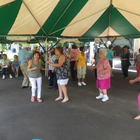 Senior Ladies enjoying the dance floor!