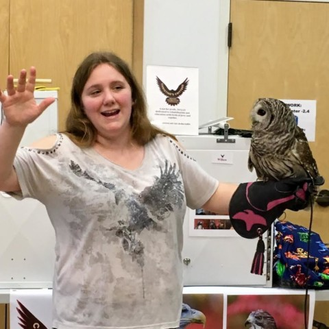 A Visit from Christine's Critters - Willow the Barred Owl